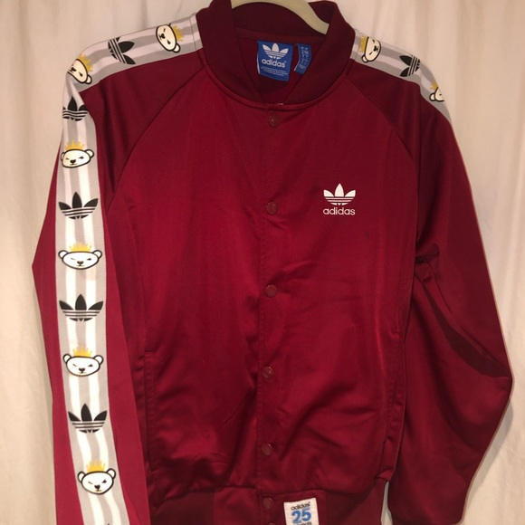big sale 95fb8 5dfaf Adidas x Nigo Maroon Bear Track Jacket